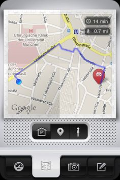 Parkbud Map - Back to my Car