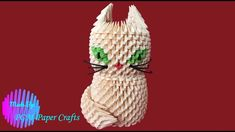 DIY - Origami How to make a cat origami Diy Origami, 3d, Christmas Ornaments, Holiday Decor, Cats, How To Make, Gatos, Kitty Cats, Christmas Jewelry