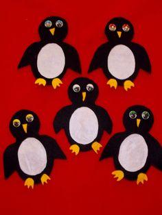 Five Royal Penguins
