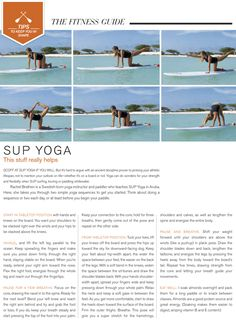 Scoff at SUP yoga if you will. But it's hard to argue with an ancient discipline proven to prolong your athletic lifespan, not to mention your outlook on life– whether it's on a board or not. Stand Up Paddle Board, Paddle Board Yoga, Yoga Inspiration, Sup Girl, Sup Yoga, Yoga Posen, Workout Guide, Yoga Routine, Yoga Sequences