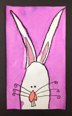 ARTventurous: Easter Bunny -- I did this art project with my kindergarten class last year and their drawings/paintings were just adorable!