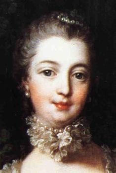 Madame Pompadour.Recibió el título de duquesa, con derecho al escabel (sentarse frente a la reina) pero nunca hizo uso de él y continuó utilizando el rango de marquesa.