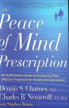 The Peace of Mind Prescription details the full array of medically approved drugs and therapies, highlights the latest breakthroughs, and explores future possibilities. It advocates treating most adults with a combination of psychotherapy and medication and confirms the link between serious anxiety and depression and physical diseases.