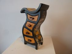 Wooden Jewelry Box   Solid Ash Hula45 Painted by by PaulSzewc, $400.00