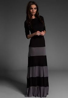 Sew a color blocked maxi dress. tutorial isn't very good, but I love the dress