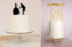 Pretty wedding cake silhouettes