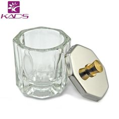 KADS 1pc Crystal Glass Dappen Dish / Lid Bowl Cup Crystal Glass Dish Nail Art Tools Acrylic Nail Art Equipment Mini Bowl Cups