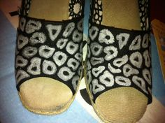 Leopard and Zebra Wedge Toms