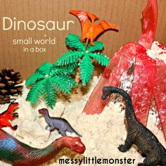 Dinosaur Small World With Cloud Dough