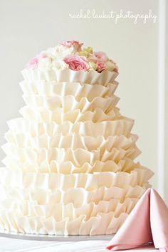 Cream Ruffle Cake