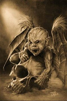 Evil Tattoos, Skull Tattoos, Body Art Tattoos, Evil Skull Tattoo, Dark Art Drawings, Tattoo Drawings, Dark Fantasy Art, Art Sinistre, Grim Reaper Art