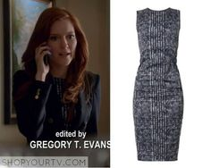 Abby Whelan (Darby Stanchfield) wears this white and black houndstooth print dress in this week's episode of Scandal.  It is the Sportmax 'Chantal' Dress.  Season 5