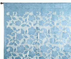 Rideau - ROSEWOOD - Bleu clair