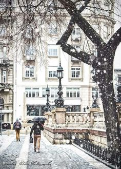 Budapest in snow