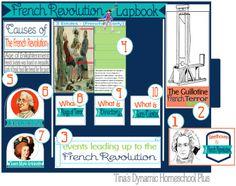 Free French Revolution Lapbook    #frenchrevolution  #lapbooks  #ihsnet