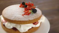 BBC Two - James Martin: Home Comforts, Series 3, Back to Basics, Victoria sponge with mixed berries