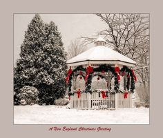Christmas gazebo in New England