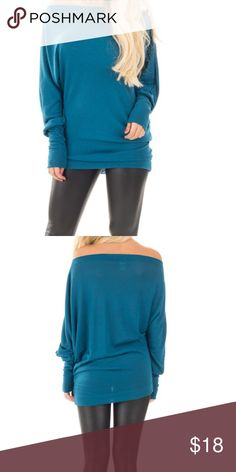 Teal favorite dolman top My best selling favorite top in a gorgeous teal PLEASE Use the Poshmark new option you can purchase and it will give you the option to pick the size you want ( all sizes are available) BUNDLE and save 10% ( no trades price is firm unless bundled) Tops