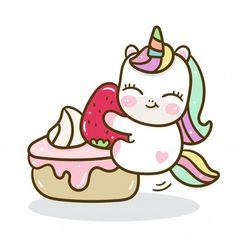 Vivid8 | Freepik Cute Unicorn, Unicorn Art, Cartoon Unicorn, Birthday Greetings For Kids, Happy Birthday Parties, Happy Party, Doodles Kawaii, Cute Doodles, Cute Animal Drawings Kawaii