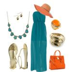 turquoise and orange!