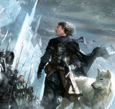Jon Snow inspecting the lines at the Battle of Castle Black
