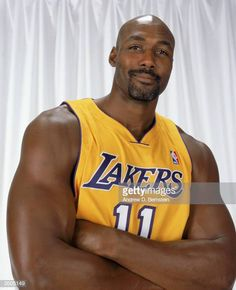 Karl Malone of the Los Angeles Lakers poses for a portrait during the Los Angeles Lakers Media Day on October 2003 in El Segundo, California. Get premium, high resolution news photos at Getty Images 2013 Nba Finals, Karl Malone, Basketball Pictures, Sports Images, Utah Jazz, Wnba, Nba Players, College Basketball, Los Angeles Lakers