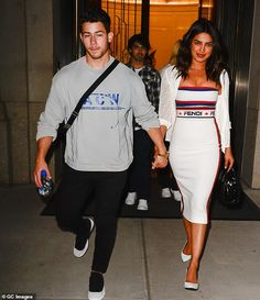 Nick Jonas, Joe Jonas and Priyanka Chopra are seen in Soho on September 2018 in New York City. Get premium, high resolution news photos at Getty Images Jonas Brothers, Joe Jonas, Bollywood Celebrities, Bollywood Fashion, Bollywood Style, Nick Jonas Shirtless, Stylish Couple, Fashion Couple, Skin Tight