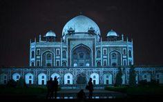Taj Mahal,  light it up blue