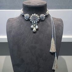 A natural pearl and diamond necklace by Bhagat. FD-Gallery, New York.