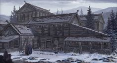 More of the village area Outland Villages Fantasy Town, Fantasy Castle, Fantasy Map, Medieval Fantasy, Fantasy World, Dark Fantasy, Viking Village, Fantasy Concept Art, Environment Concept Art