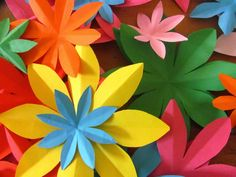 A Patchwork Life: Easy paper flowers