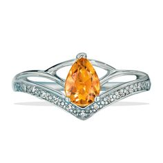 Genuine citrine stone surrounded by CZs. Regularly $59.99, buy Avon Jewelry online at http://eseagren.avonrepresentative.com
