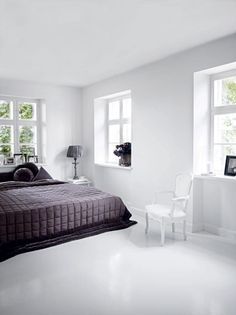 White Bedroom Decoration Is Helpful For Comfortable Soothing Bedroo Tanem Kuris Epoxy Flooring