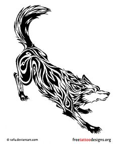 60 Awesome wolf tattoos + more about the meaning of wolves. Designs include tribal and howling wolves, wolf head and paw tattoos. Wolf Tattoo Sleeve, Tribal Sleeve Tattoos, Tattoos Skull, Wolf Tattoos, Animal Tattoos, Art Tattoos, Tatoos, Tattoo Arm, Tribal Wolf Tattoo Designs