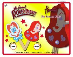 Who Framed Roger Rabbit Flavored Ice Cream Bars Art - Roger and Jessica Rabbit