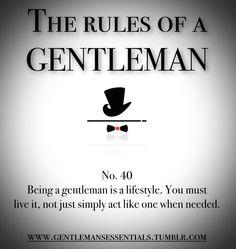 Weekly Rules Gentleman's Essentials