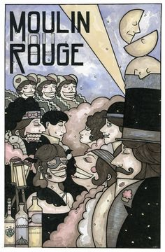 Moulin Rouge print by Patric C. Bates signed free by patricbates, $15.00