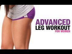 Advanced Leg Workout for Women (HARD WORKOUT - FIRM THIGHS!) - YouTube