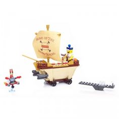 The SpongeBob Movie Sponge Out of Water Burgermobile Showdown is a building set from MEGA Bloks that allows kids to construct a playset for an epic food battle.