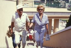 Fly me to the moon: Frank and Barbara on vacation in Monaco in 1984 (above)