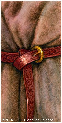 John Howe :: Illustrator Portfolio :: Home / From Hobbiton to Mordor / Cards and Such / Belt John Howe, Tolkien, Lotr, Belt, Illustration, Accessories, The Lord Of The Rings, Illustrations, Belts