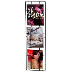 Porte-revues Frame 3 Puhlmann PUHLMANN : prix, avis & notation, livraison.  Les jolies couvertures en couleurs d'un magazine sont d'une grande valeur stylistique ! Il est dommage de les laisser disparaitre sous une pile de magazines ! Sur ce porte-revues de Puhlmann, les magazines ont la place qu'ils méritent : ils sont bien en vue.Dimensions : H 98 x larg. 28 x P 7 cmMatériau : AcierDécoration murale éléganteJolie repro...