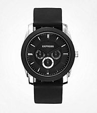 MULTI-FUNCTION SILICONE STRAP WATCH - BLACK  #ExpressJeans