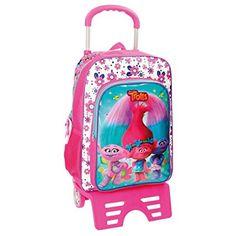 Trolls Sac à dos scolaire, Système Magic Fix pour un soutien supplémentaire du sac à dos dans le chariot. EUR 45
