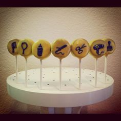 Hairstylist icon cake pops