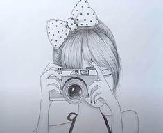 Pencil Sketches Of Girls, Pencil Drawings For Beginners, Disney Drawings Sketches, Pencil Drawing Tutorials, Cute Cartoon Drawings, Girly Drawings, Art Drawings Sketches Simple, Easy Drawings Of Girls, Pencil Sketch Tutorial