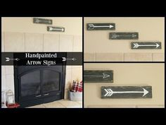 Happy At Home: Hand Painted Arrow Signs