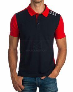 Polos EA7 Armani ® Azul Marino & Rojo | ENVIO GRATIS