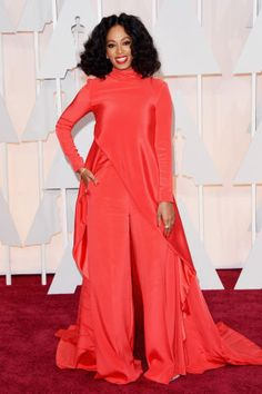 Solange Knowles at the 2015 Oscars. See all the best red carpet arrivals, here:
