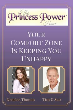 Your Comfort Zone Is Keeping You Unhappy with Tim C Star on The Princess Power Hour Podcast hosted by Nedalee Thomas! Princess Power, Motivational Videos, Comfort Zone, Saving Tips, Budgeting, Encouragement, Advice, Humor, Education